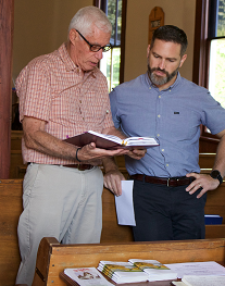 Ted Randall and Martin Twombly teaching and learning the Bible